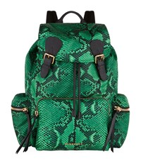 Burberry Shoes And Accessories Python Print Buckled Rucksack Female Green