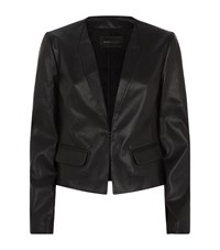 Bcbgmaxazria Faux Leather Blazer Female Black
