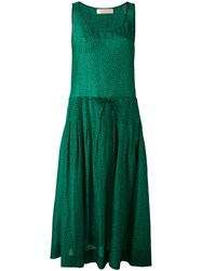 Diane Von Furstenberg Sleeveless Drawstring Dress Women Silk Cotton Xs Green