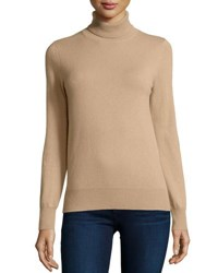 Neiman Marcus Classic Long Sleeve Cashmere Turtleneck White