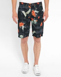 Carhartt Black Johnson Palm Tree Pr Shorts