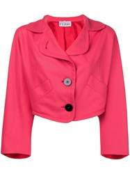 Gianfranco Ferre Vintage Oversized Cropped Blazer Pink And Purple