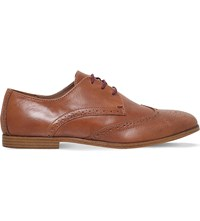 Kg By Kurt Geiger Bairstow Leather Derby Shoes Tan