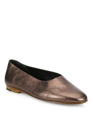 Vince Maxwell Leather Ballet Flats Bronze