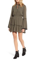 Lost Wander 'S Olivia Bell Sleeve Dress Olive