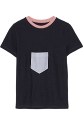 Band Of Outsiders Cotton And Wool Blend T Shirt Blue