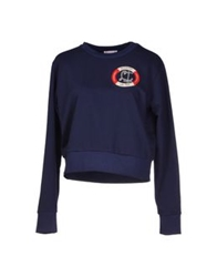 Olympia Le Tan Sweatshirts Dark Blue