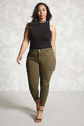 Forever 21 Plus Size Cargo Pants Olive