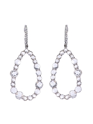 Susan Foster White Diamond And White Gold Earrings