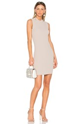 Carven Ribbed Dress Taupe