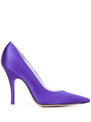 Attico Pointed High Heel Pumps Purple