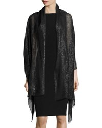 Bajra Metallic Linen Evening Wrap Black
