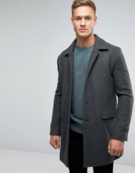Boss Orange Bodhy Overcoat Textured Weave Grey