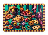 Seletti Toiletpaper Tablemat Food With Holes Set Of 6 Various
