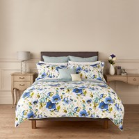 Christy Poppy Duvet Cover Blue Double