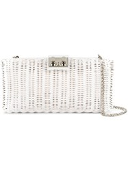 Rodo Woven Clutch Bag White
