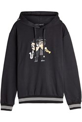 Dolce And Gabbana Embrodiered Cotton Hoodie