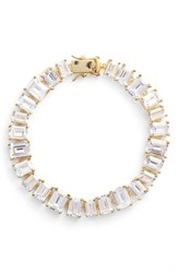 Cz By Kenneth Jay Lane Women's Cubic Zirconia Tennis Bracelet Gold