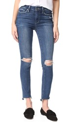 Paige Hoxton Ankle Peg Jeans With Uneven Hem Dedee Destructed