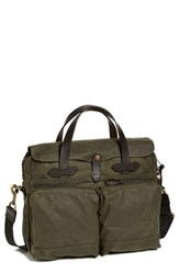 Men's Filson '24 Hour' Tin Cloth Briefcase Green Otter Green