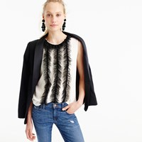 J.Crew Collection Shell With French Tulle