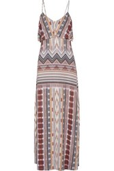Tart Collections Gen Layered Printed Stretch Modal Maxi Dress Brown