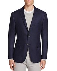 Hickey Freeman Solid Cashmere Twill Slim Fit Sport Coat Navy