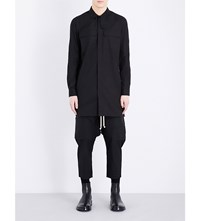 Rick Owens Field Relaxed Fit Cotton Shirt Black