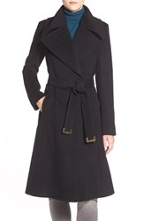 Women's Diane Von Furstenberg Long Wool Blend Wrap Coat