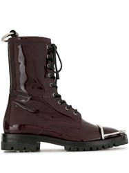 Alexander Wang Kennah Patent Leather Effect Boots 60