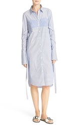 Tibi Women's Removable Strap Stripe Shirtdress