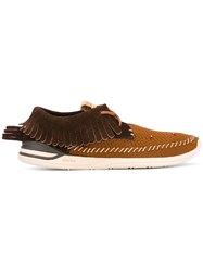 Visvim Fringed Boat Shoes Men Calf Leather Leather Rubber 9.5 Brown