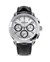 Alpina Alpiner 4 Manufacture Flyback Chronograph 44Mm Silver Black