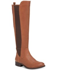Jessica Simpson Ranica Tall Riding Boots Women's Shoes Maple Fudgie