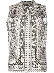 Etro Printed Sleeveless Blouse White