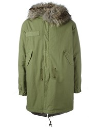 Mr And Mrs Italy Fur Collar Parka Green
