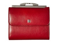 Bosca Old Leather 4 French Purse Brick Red Handbags