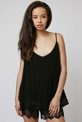 Strappy Crochet Playsuit By Rare Black