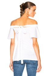 N 21 No. Off The Shoulder Tee In White