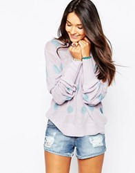 Wildfox Couture Wildox White Label Polka Dot Holiday Sweater Pwnk