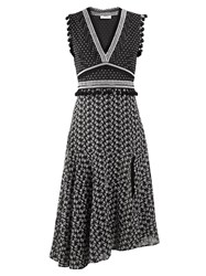 Altuzarra Eiffel V Neck Broderie Anglaise Dress Black White