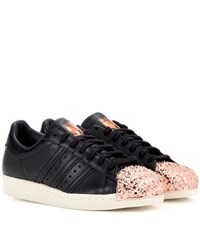 Adidas Superstar 80S Metal Toe Leather Sneakers Black
