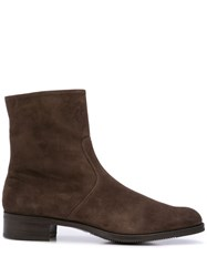 Gravati Zipped Ankle Boots Brown