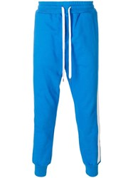 Ports 1961 Track Pants With Side Stripes Blue