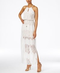 Bar Iii Sleeveless Lace Maxi Dress Only At Macy's Washed White