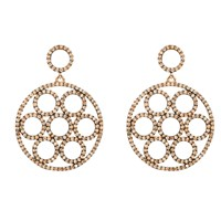 Latelita London Olympics Earring Rosegold Champagne Rose Gold Brown