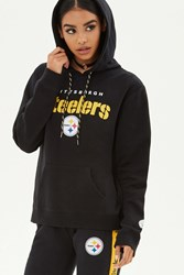 Forever 21 Nfl Steelers Fleece Hoodie Black Yellow