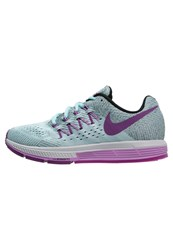 Nike Performance Air Zoom Vomero 10 Cushioned Running Shoes Copa Vivid Purple Black Fuchsia Glow Light Blue
