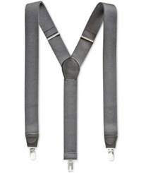 Club Room Men's Solid Suspenders Only At Macy's Grey