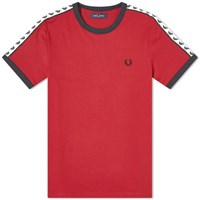 Fred Perry Authentic Taped Ringer Tee Burgundy